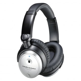 Audio-Technica® - QuietPoint Active Noise-cancelling Stereo Headphones (Silver)