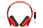 Audiobahn® - Over the Ear Red/Black Headphones
