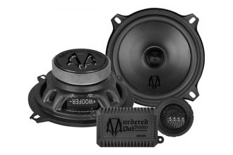 "Audiobahn® - 5-1/4"" 260W Murdered-Out Series Component Speakers Set with Stamped Steel Basket"