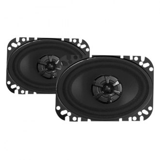 "Audiobahn® - 4"" x 6"" 2-Way Murdered Out Series 135W Coaxial Speakers"