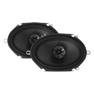 "Audiobahn® - 6"" x 8"" 2-Way Murdered Out Series 190W Coaxial Speakers"