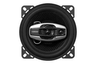 Audiobahn® - 4'' AS Series 3-Way 100W RMS Coaxial Speaker