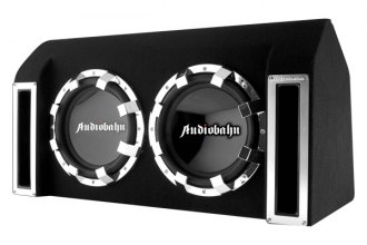 "Audiobahn® - Murdered-Out Series Dual 10"" Ported Enclosure Subwoofer System with Class A/B 600W Amplifier and Wiring Kit"