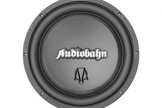"Audiobahn® - 8"" Murdered-Out Series DVC 500W Subwoofer with Flame Stamped Basket"