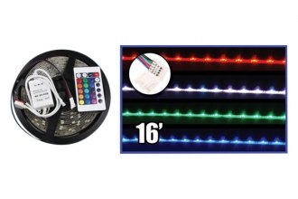 Audiopipe® NLKT116LEDM - 16' 7-Color Flexible LED Strip with Remote