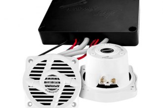 "Audiopipe® - 4"" 2-Way Marine Speakers/Amplifier 200W Combo Pack"