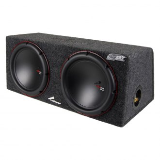 "Audiopipe® - 12"" APSB Series 1500W Sealed Dual Subwoofer Enclosure"