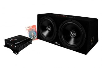 "Audiopipe® - 12"" 1800W Dual Subwoofer Box with Amplifier"