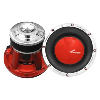 "Audiopipe® - 10"" TXXAP Series 1200W DVC Subwoofer with Red Cone"