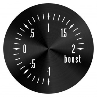 Aurora Instruments® - American Classic Black Turbo Gauge Face