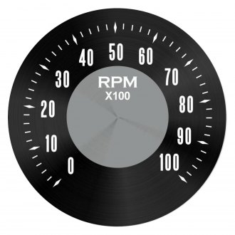 Black Modern Needles, Chrome Trim Rings, Style Kit Installed Aurora Instruments 5260 Iron Cross Gray Tachometer Gauge