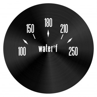 Aurora Instruments® - American Classic Black Water Temperature Gauge Face