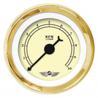 Gold Face, Black Modern Needles, Gold Bezels Aurora Instruments 4251 American Classic Volt Gauge