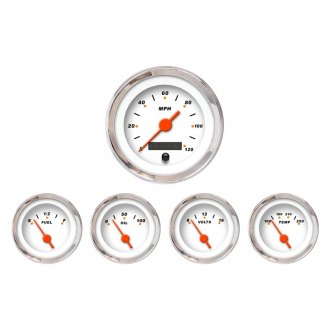 Aurora Instruments® - Modern Rodder White Gauges