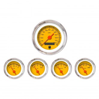Aurora Instruments® - Competition Yellow Gauges
