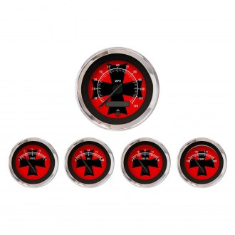 Aurora Instruments® - Iron Cross Red and Black Gauges