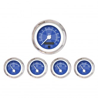 Aurora Instruments® - Iron Cross Blue Gauges