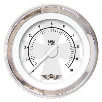 Aurora Instruments® - Iron Cross White and Ash Tachometer Gauges