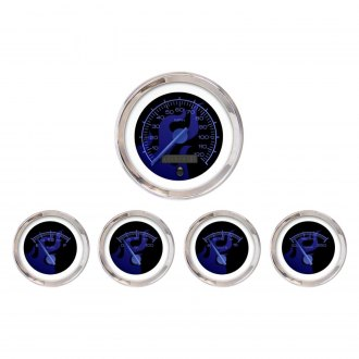 Aurora Instruments® - Ghost Flame Blue Gauges