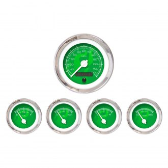 Aurora Instruments® - Ghost Flame Green Gauges