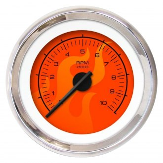 Aurora Instruments® - Ghost Flame Red Tachometer Gauges
