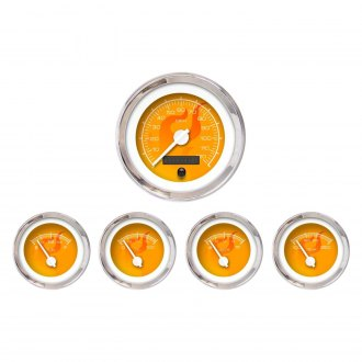 Aurora Instruments® - Ghost Flame Orange Gauges