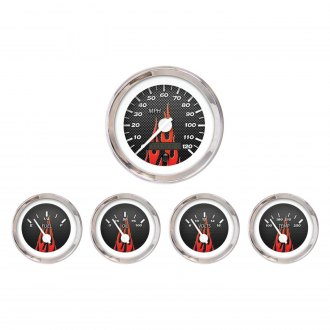 Aurora Instruments® - Carbon Fiber Red Gauges
