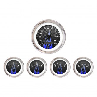 Aurora Instruments® - Carbon Fiber Blue Gauges