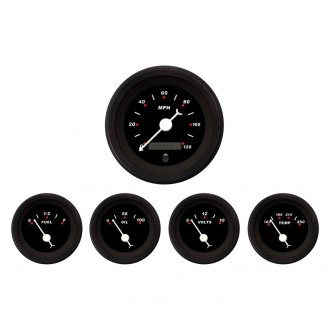 Aurora Instruments® - Modern Rodder Black Gauges