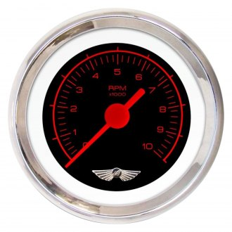 Aurora Instruments® - Competition Black and Red Tachometer Gauges