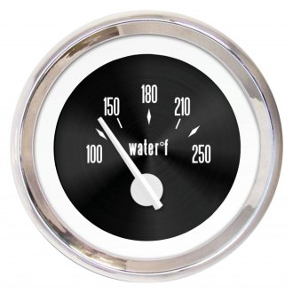 Aurora Instruments® - American Classic Black II Water Temperature Gauge