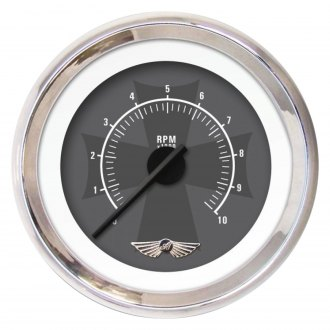 Aurora Instruments® - Iron Cross Ash and Gray Tachometer Gauges