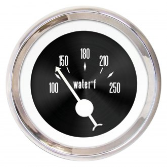 Aurora Instruments® - American Classic Black III Water Temperature Gauge