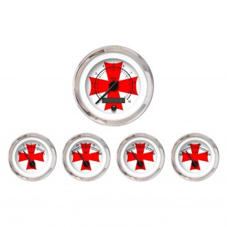 Aurora Instruments® - Iron Cross White and Red Gauges