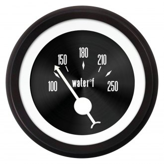 Aurora Instruments® - American Classic Black IV Water Temperature Gauge
