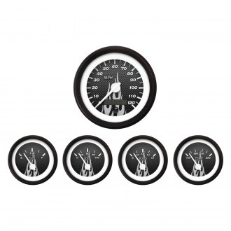 Aurora Instruments® - Carbon Fiber Gray Gauges