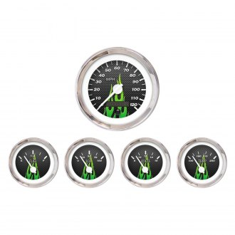 Aurora Instruments® - Carbon Fiber Green Gauges