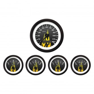 Aurora Instruments® - Carbon Fiber Yellow Gauges