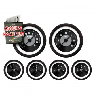 Aurora Instruments® - American Classic Black IV Gauge Face Kit