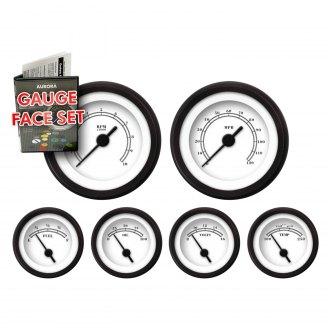 Aurora Instruments® - American Classic White Gauge Face Kits