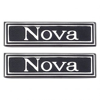 "Auto Metal Direct® - OER™ ""Nova"" Driver and Passenger Side Door Panel Emblems"
