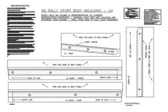 Auto Metal Direct® - CHQ™ Body Molding Template Kit