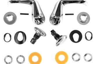 Auto Metal Direct® - CHQ™ Vent Window Pivot Stud and Handle Kit