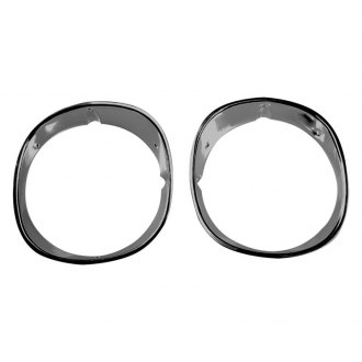 Auto Metal Direct® - CHQ™ Driver and Passenger Side Headlamp Bezels