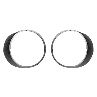 Auto Metal Direct® - CHQ™ Driver and Passenger Side Headlight Bezels