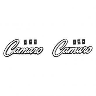 "Auto Metal Direct® - CHQ™ ""Camaro"" Interior Door Panel Emblems"