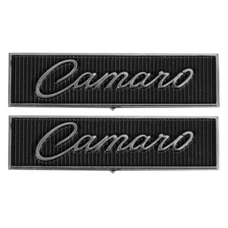 "Auto Metal Direct® - CHQ™ ""Camaro"" Script Door Panel Emblems"