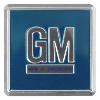 "Auto Metal Direct® - CHQ™ ""GM"" Aqua Door Emblem"