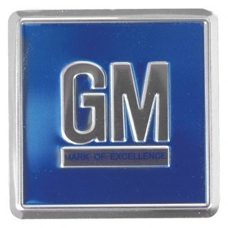 "Auto Metal Direct® - CHQ™ ""GM"" Blue Door Emblem"