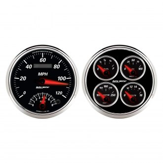 "Auto Meter® - Designer Black II Series 5"" Quad and Tachometer/Speedometer Gauge"